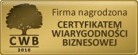 Znalezione obrazy dla zapytania certyfikat wiarygodności biznesowej