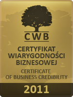 Gold Certificate of Business Credibility