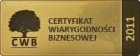 Certyfikat Wiarygodności Biznesowej dla GRENE