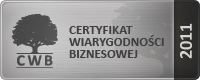 Srebrny Certyfikat Wiarygodnoci Biznesowej za rok 2011