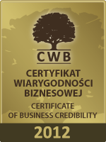 Certificate of Business Credibility 2011