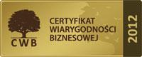 Certyfikat Wiarygodnośći Biznesowej