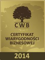Certyfikat Wiarygodności Biznesowej 2014