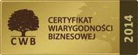 Sprawdź nasz certyfikat wiarygodności biznesowej