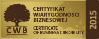 Certificate of Business Credibility 2015